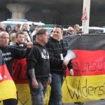 © Redaktion Kein Veedel für Rassismus - Fotoinfo: Dominik Roeseler führt die Hogesa-Demonstration am 26.10.2014 in Köln an.