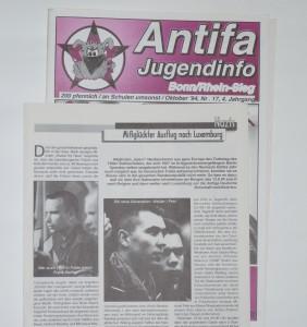 © Redaktion Kein Veedel für Rassismus - Fotoinfo: Schon in den 90er Jahren im Fokus der Antifa-Recherche: Attentäter Frank S.